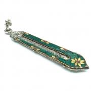 Incensário Indiano Artesanal Mosaico Colorido (Símbolo Om)