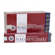 Incenso Indiano de Massala Golden Nag Seven Chakra