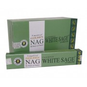 Incenso Indiano de Massala Golden Nag White Sage