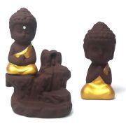 Kit Incensário Cascata e Mini Monge da Gratidão