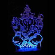 Luminária Ganesha em Acrílico com LED (26cm)