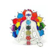 Mandala em Vidro Chakras M (15cm)