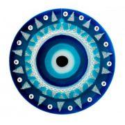 Mandala em Vidro Olho Grego P (10cm)