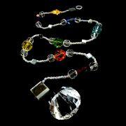 Penduricalho dos 7 Chakras com Cristal de 40mm