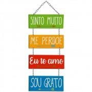 Placa Decorativa Ho'oponopono (52x20cm)