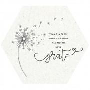 Placa Decorativa Signos: Viva Simples (22x25cm)