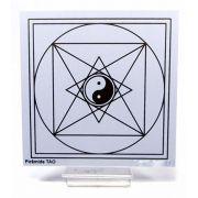 Placa Radiônica Pirâmide TAO (PVC)
