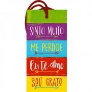 Placa TAG em MDF Ho'Oponopono (9x14cm)