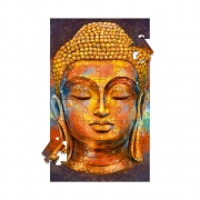 Quadro Decorativo Quebra-Cabeça de Parede Buda (90x148cm)