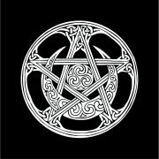 Toalha para Altar e Tarô Pentagrama Celta (70x70cm)