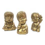 Trio Buda Baby com Cristal (9cm)