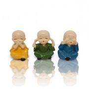 Trio de Monges Não Falo, Não Ouço e Não Vejo (5cm)