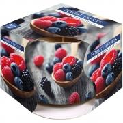 Vela Aromatizada com Copo Decorativo (Frutas Silvestres)