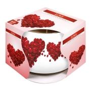 Vela Aromatizada com Copo Decorativo (Love)