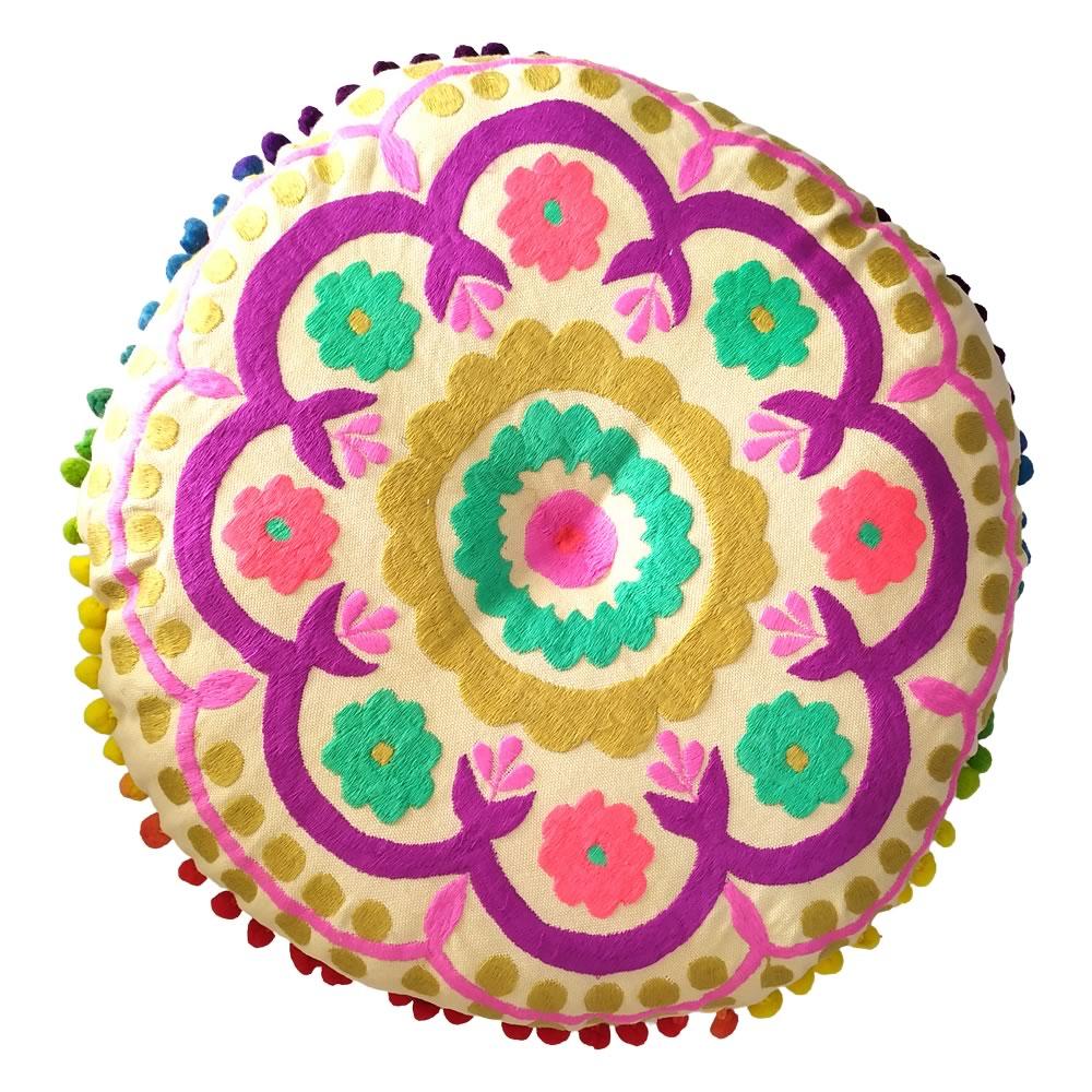 Almofada para Meditação Zafu Redonda