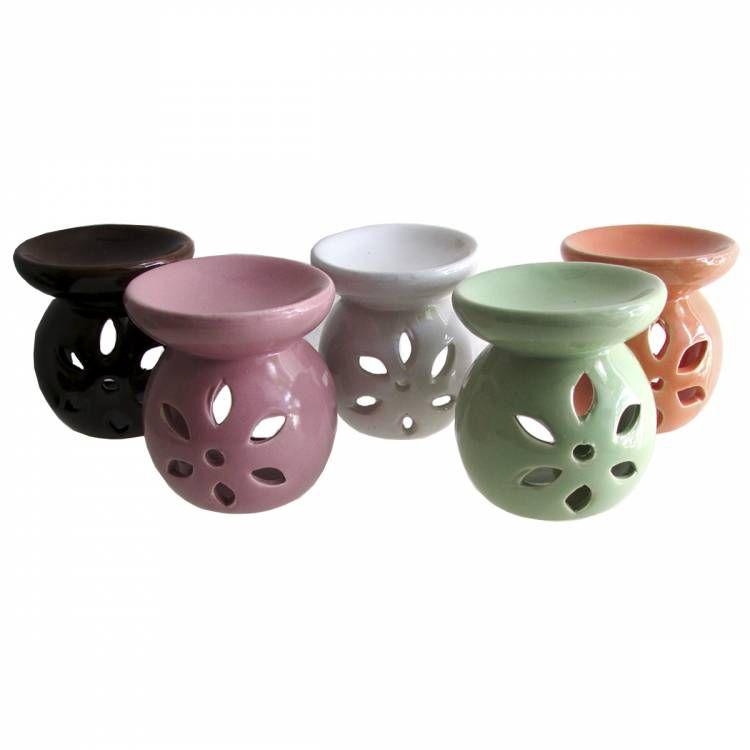 Aromatizador Rechaud Flor em Cerâmica (7cm)