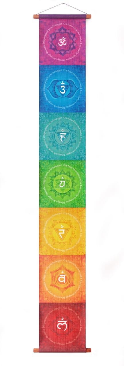 Bandeira Papiro dos 7 Chakras (96cm)