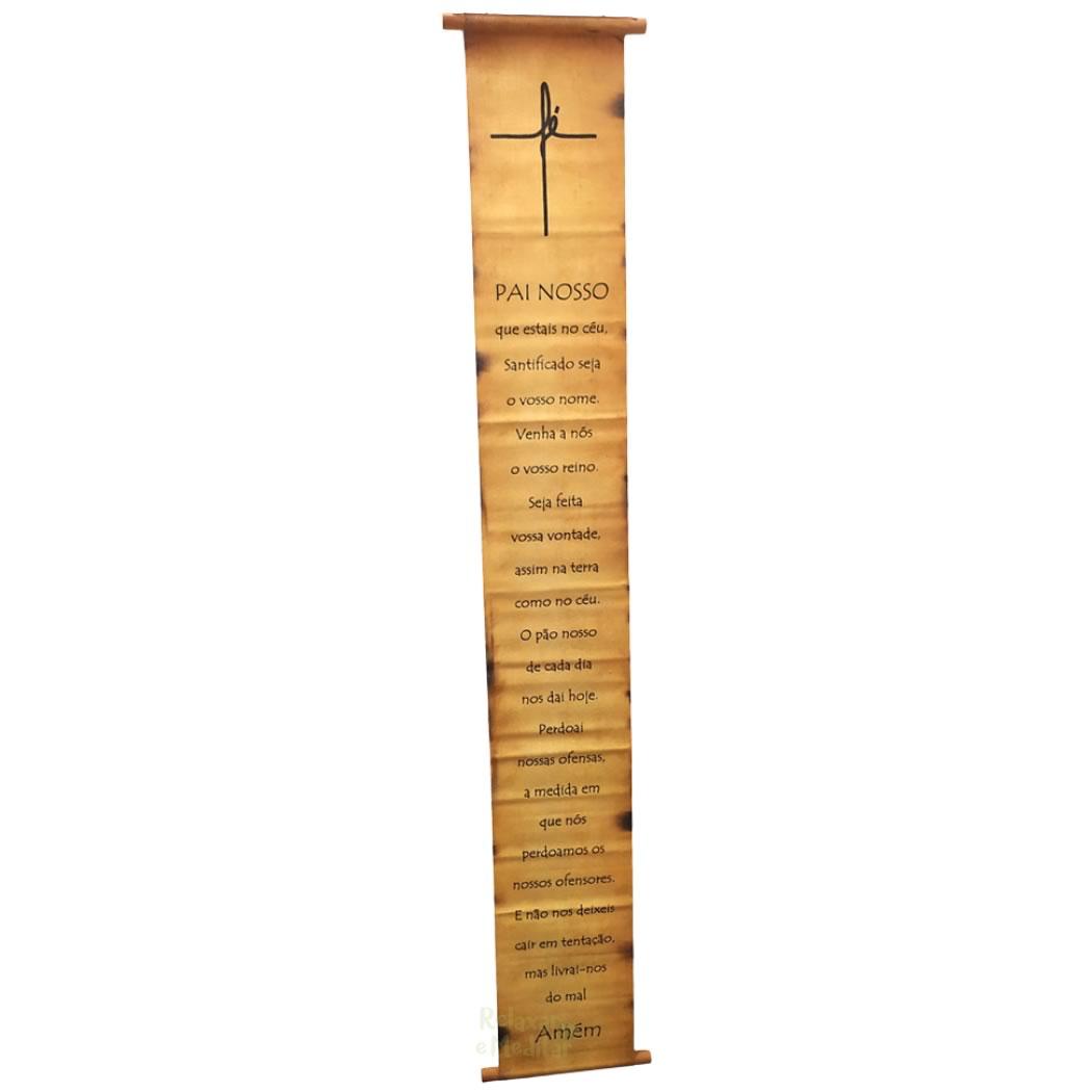 Bandeira Papiro Oração Pai Nosso (96cm)
