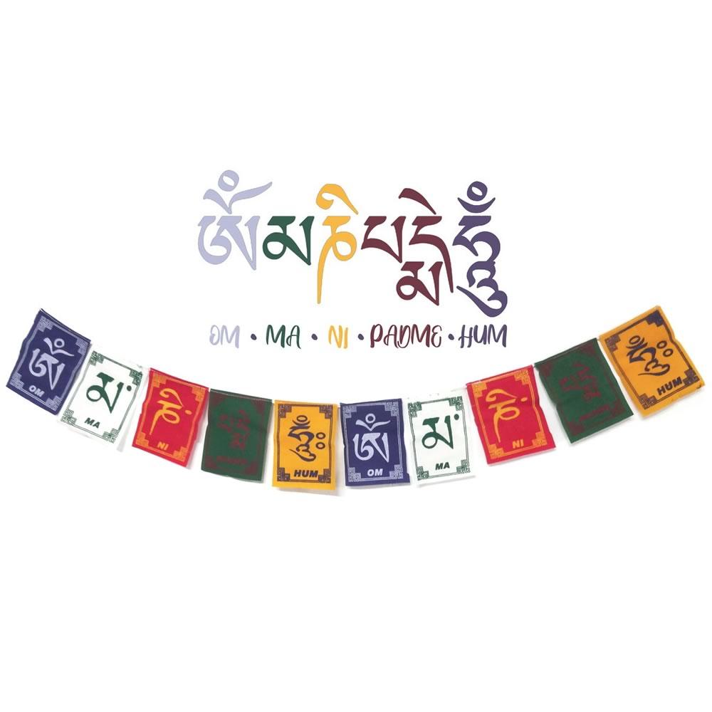 Bandeirinhas Tibetanas Om Mani Padme Hum (14cm)