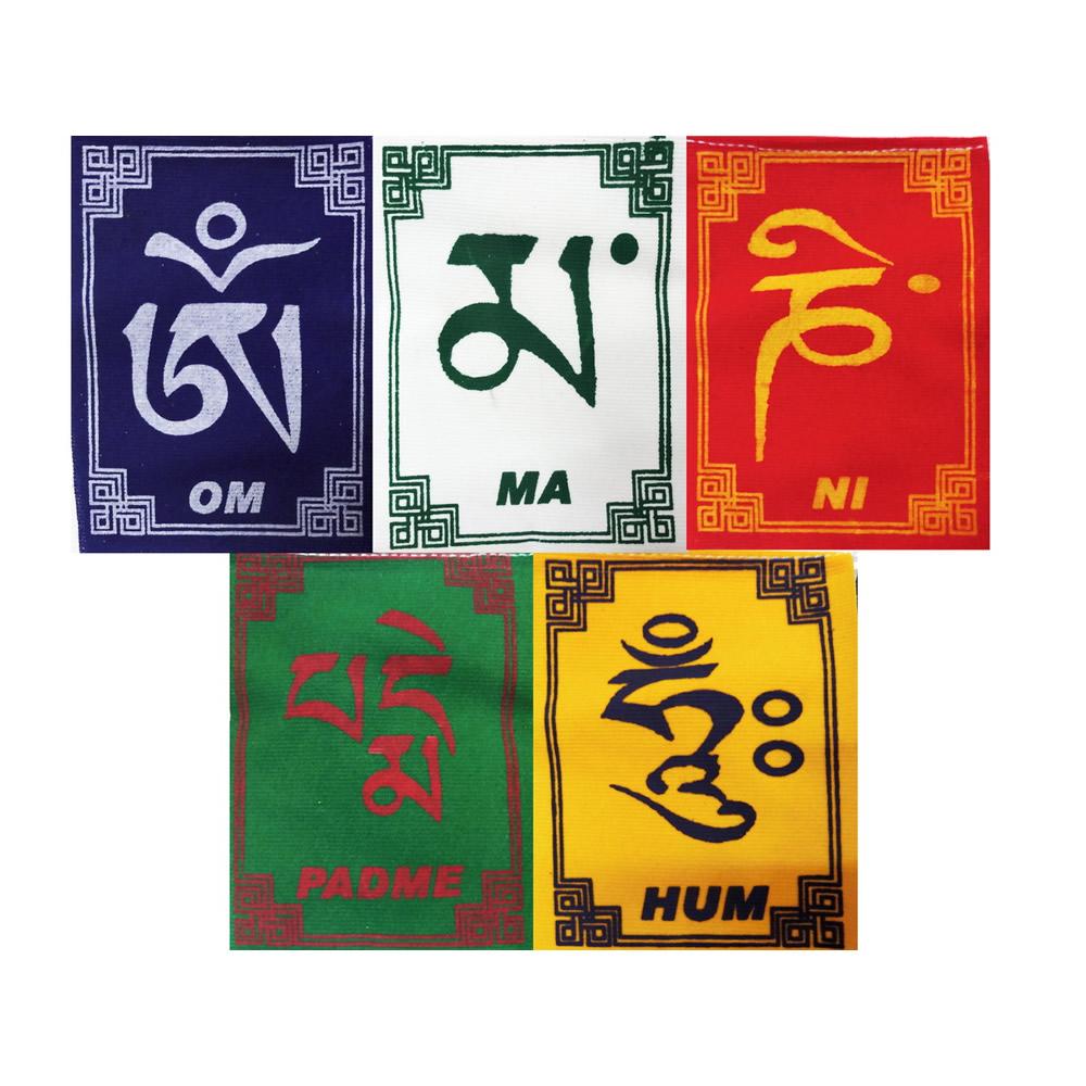 Bandeirinhas Tibetanas Om Mani Padme Hum (5cm)