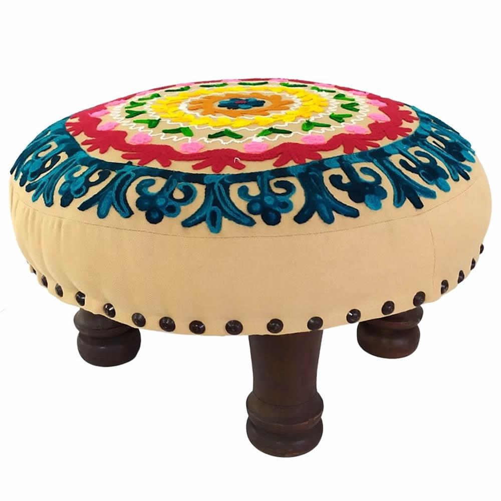 Banqueta Puff Indiano para Meditação (40cm)