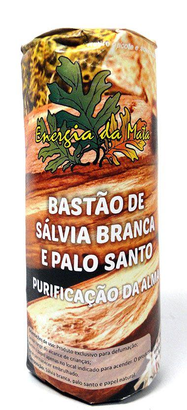 Bastão de Sálvia Branca e Palo Santo (25g)
