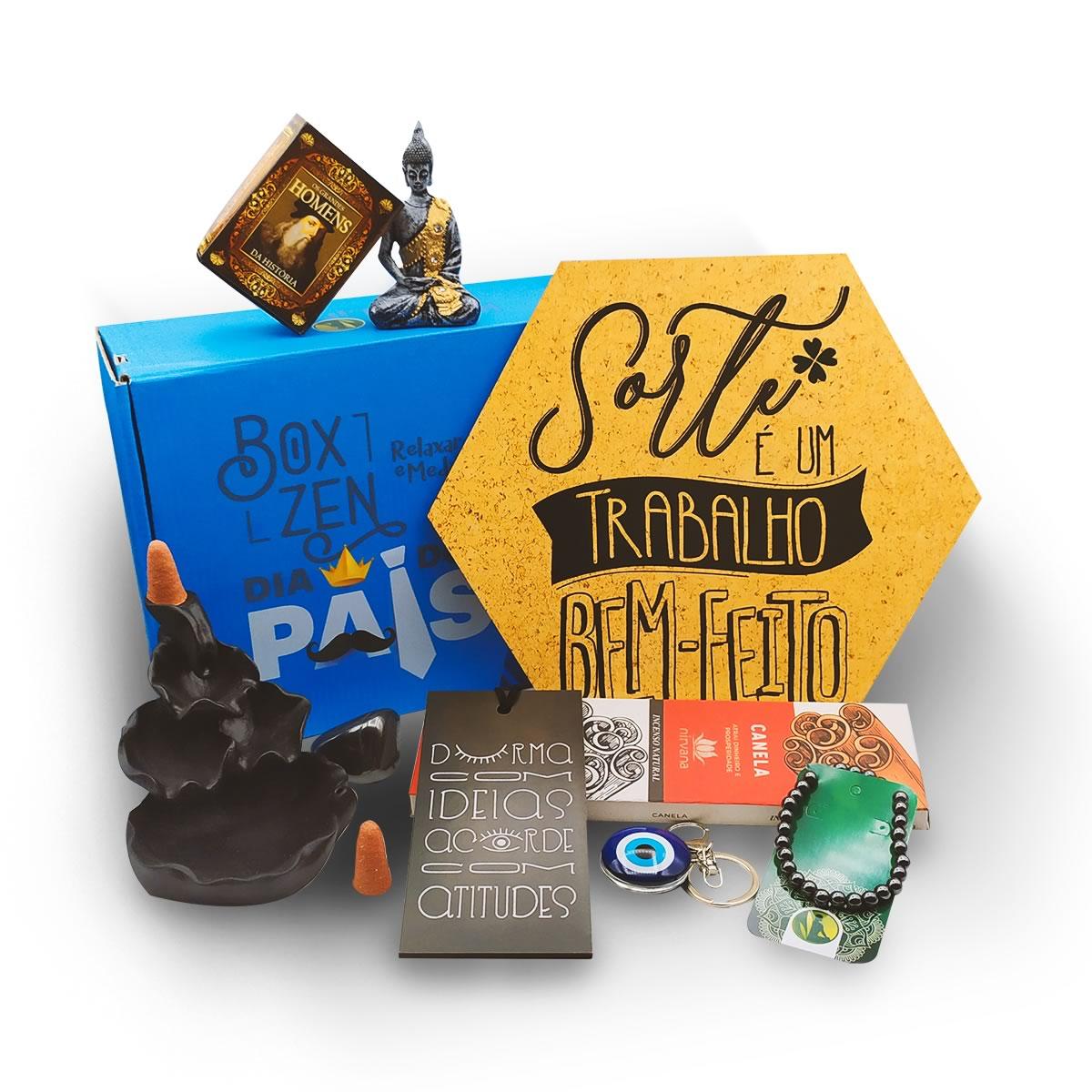 Box Zen - Kit de Produtos com Caixa Surpresa: Edição Dia dos Pais
