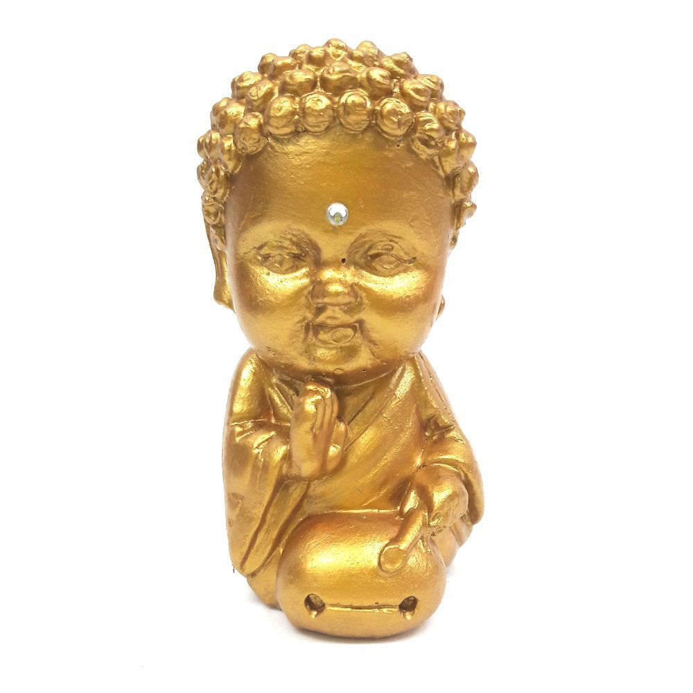 Buda Baby com Tambor com Cristal (9cm)