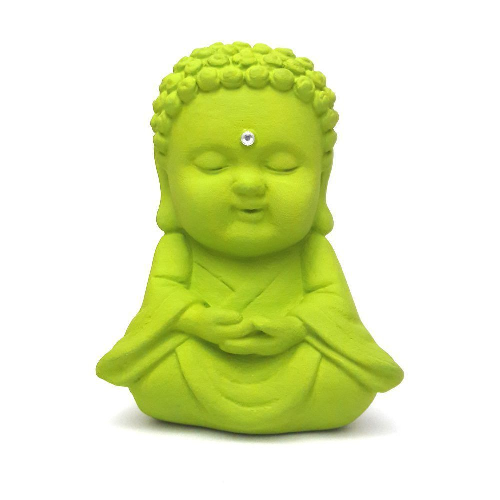 Buda Baby Meditando com Cristal (9cm)