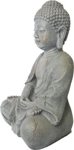 Buda com Efeito Cimento em Resina (37cm)