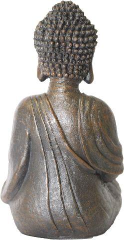 Buda com Porta Velas em Resina (Marrom)