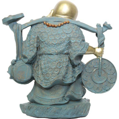 Buda da Prosperidade e Felicidade em Resina (20cm)