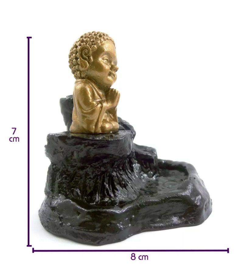 Cascata de Fumaça Invertida com Buda Baby Gratidão