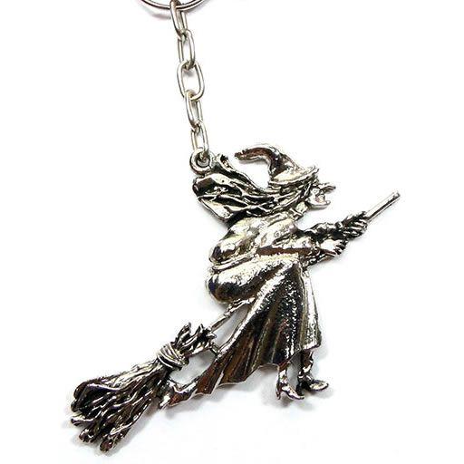 Chaveiro Bruxa em Metal com Argola