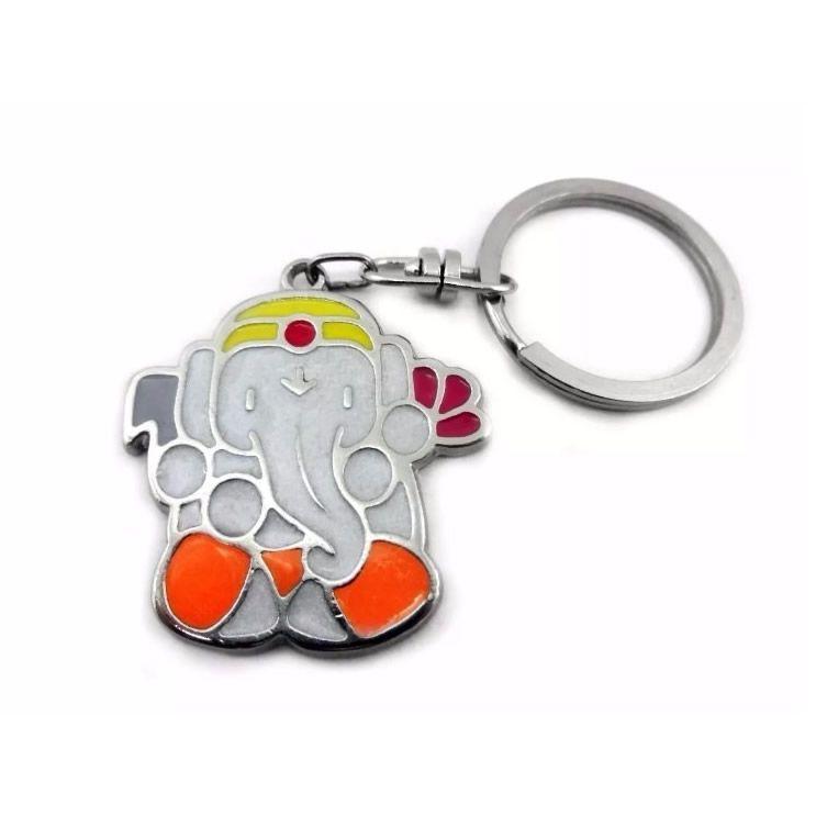 Chaveiro Ganesha em Metal com Argola