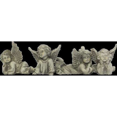 Conjunto com 4 Anjos Deitados (7cm)