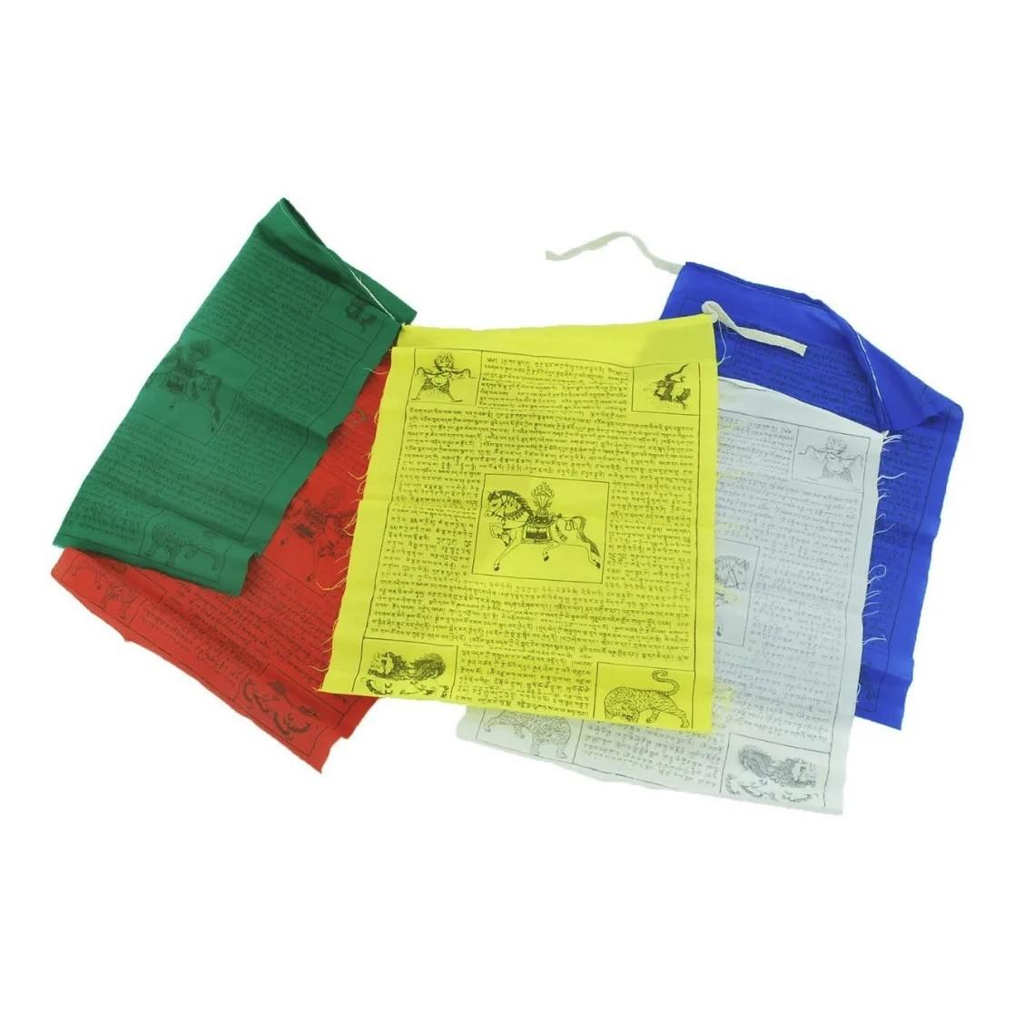 Cordão com Bandeiras Tibetanas de Oração G (18cm)