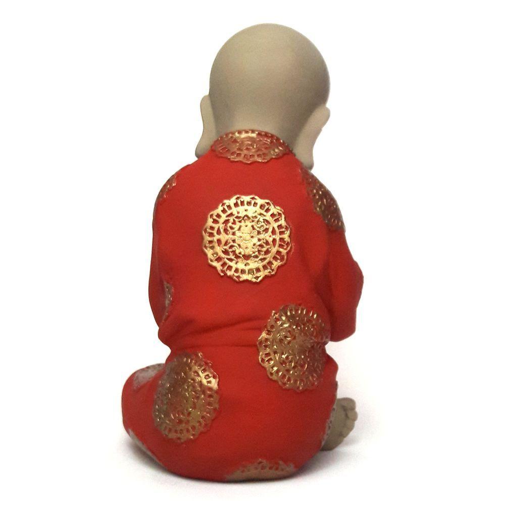 Estátua Buda Baby Pensamento (19cm)