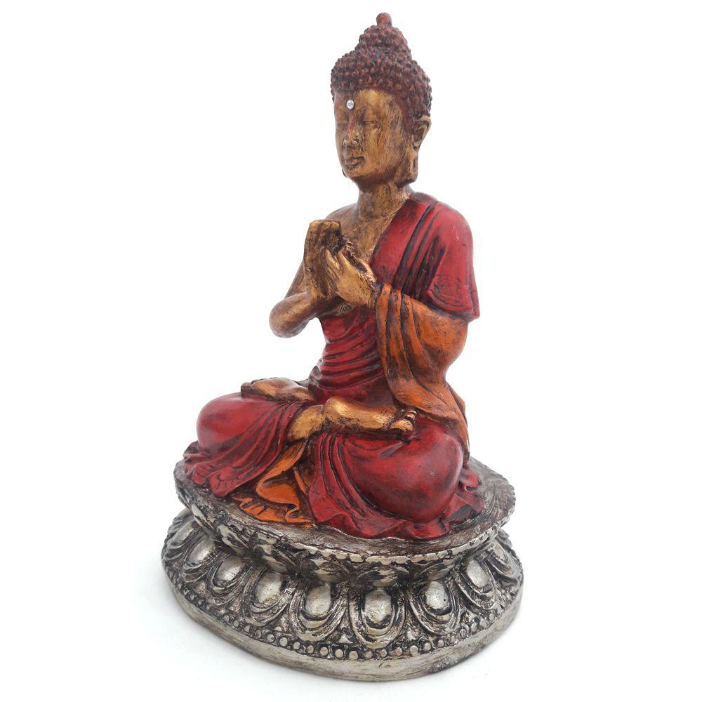 Estátua Buda Mudra Dharma Chakra (15cm)