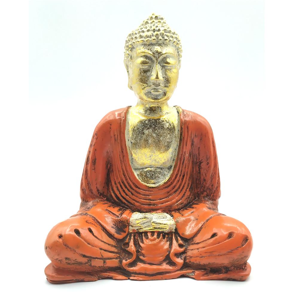 Estátua Buda Sentado Meditando (15cm)