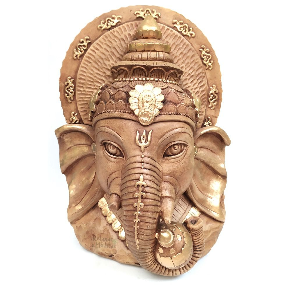 Estátua Cabeça de Ganesha Grande (28cm)