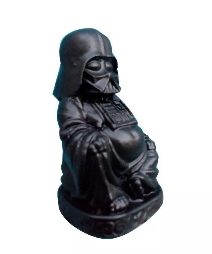 Estátua Darth Vader Buda em Resina (Preto)