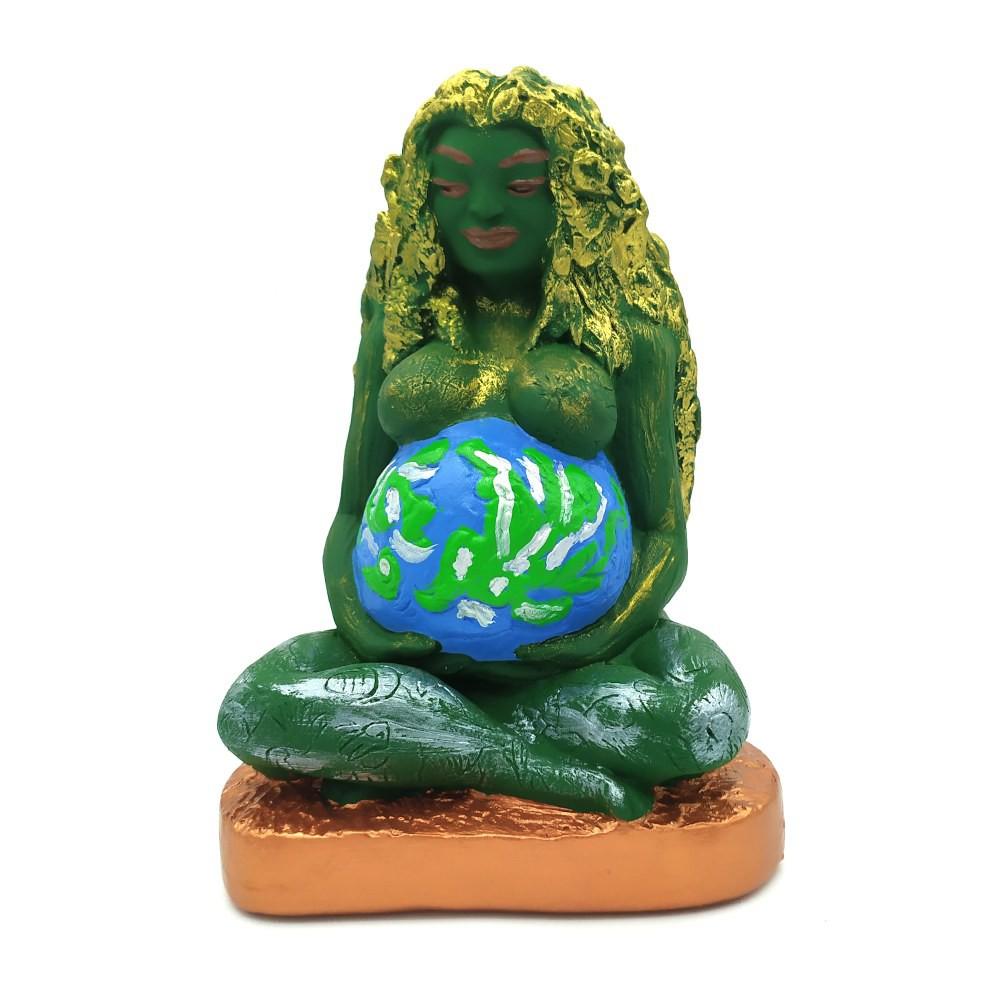 Estátua Deusa Gaia Mãe Terra (17cm)