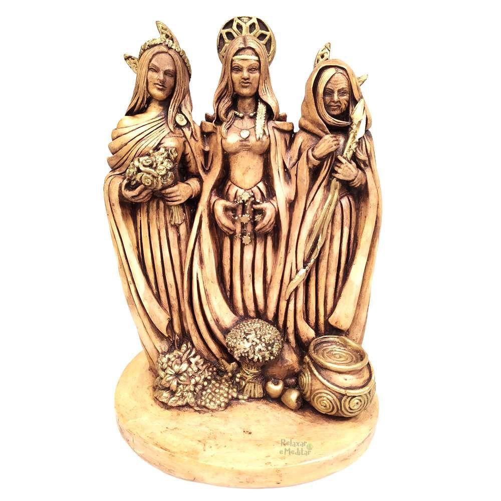 Estátua Deusa Tríplice Wicca Grande (28cm)
