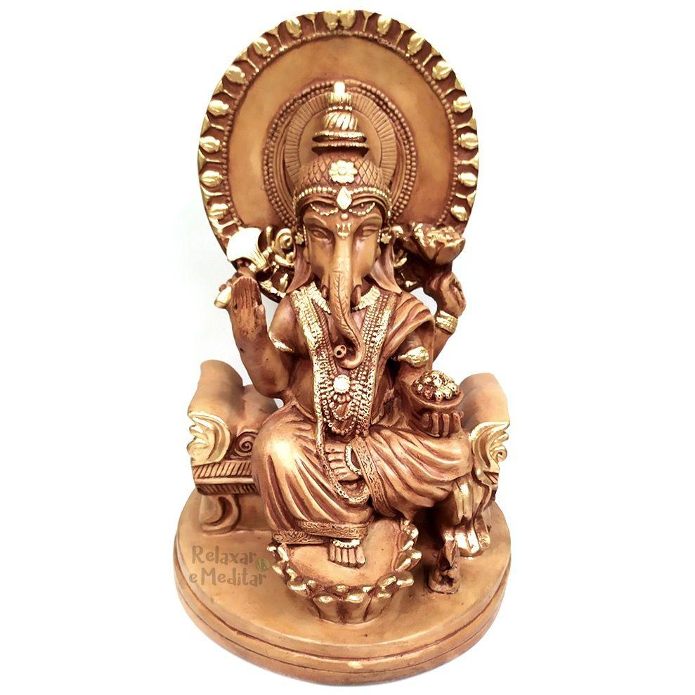 Estátua Ganesha no Trono (35cm)