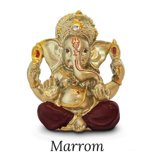 Estátua Ganeshinha Dourado (5cm)