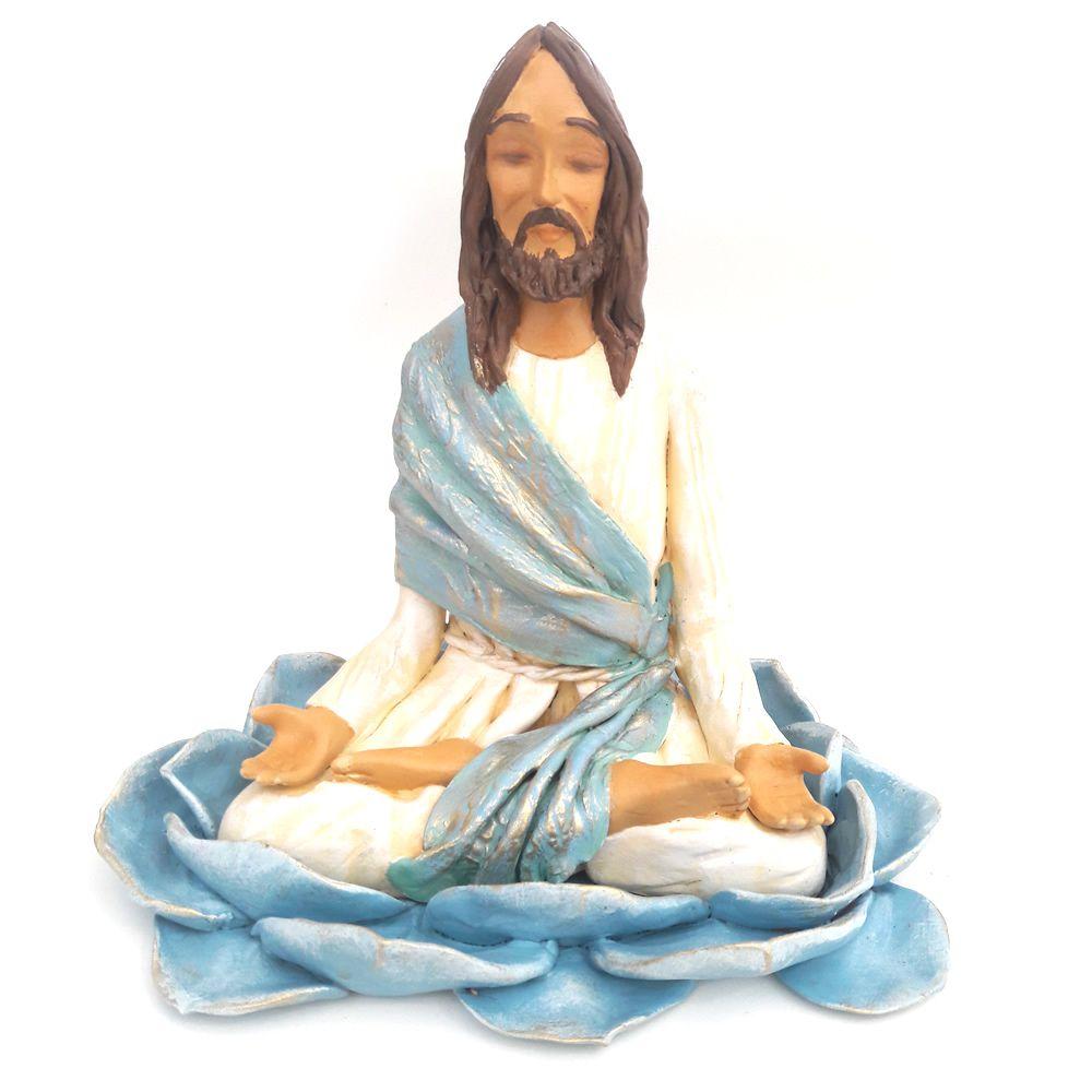Estátua Jesus Cristo Meditando (18cm)