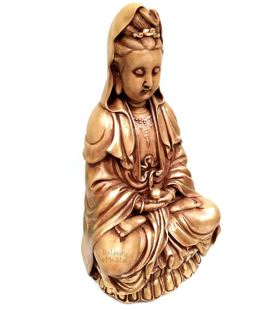 Estátua Kuan Yin Deusa da Misericórdia (38cm)