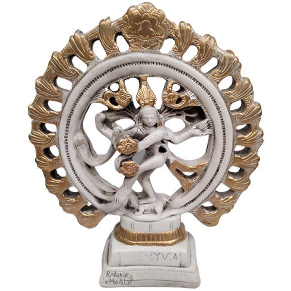 Estátua Shiva Nataraja com Arco de Fogo (30cm)