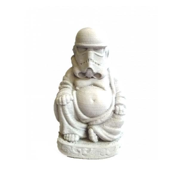 Estátua Stormtrooper Buda em Resina (10cm)